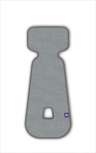 PETITE&MARS Vložka do autosedačky 3D Aero sv.šedá 9-18 kg
