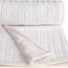 T-TOMI Pletená deka WINTER, bílá
